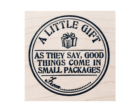 A Little Gift Rubber Stamp