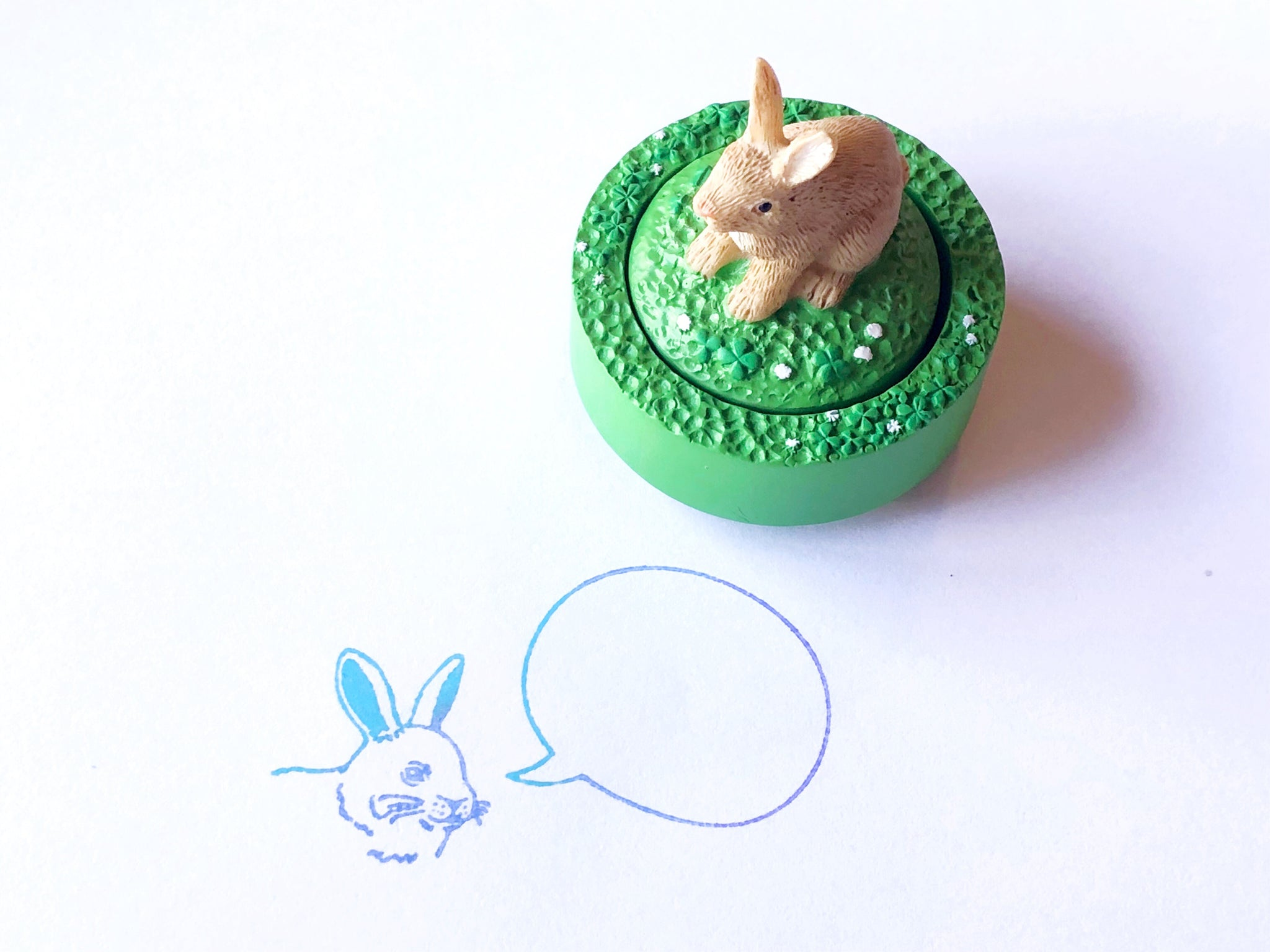 Animal Speech Bubble Rubber Stamp