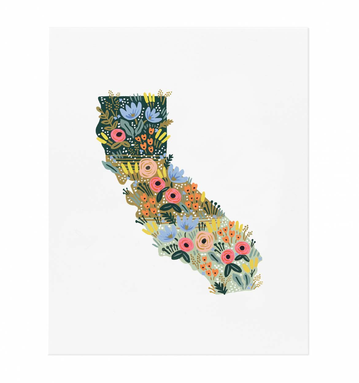 California Wildflowers Art Print 8 x 10