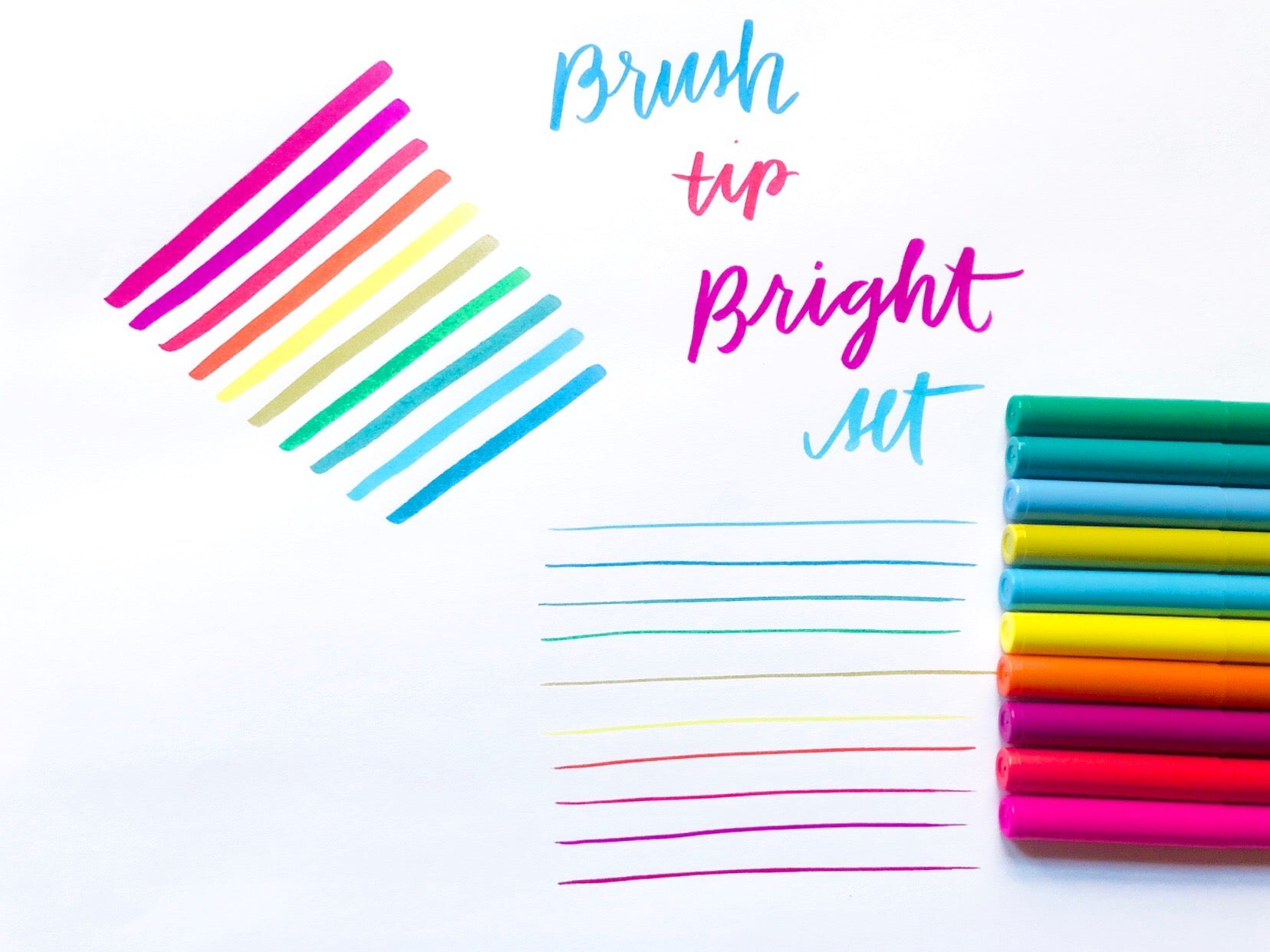 Brush Tip Marker Set
