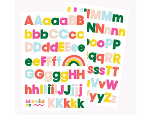 BRIGHTS ALPHABET STICKER SHEETS