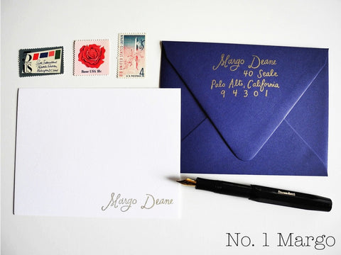 Custom calligraphy stamp gift set