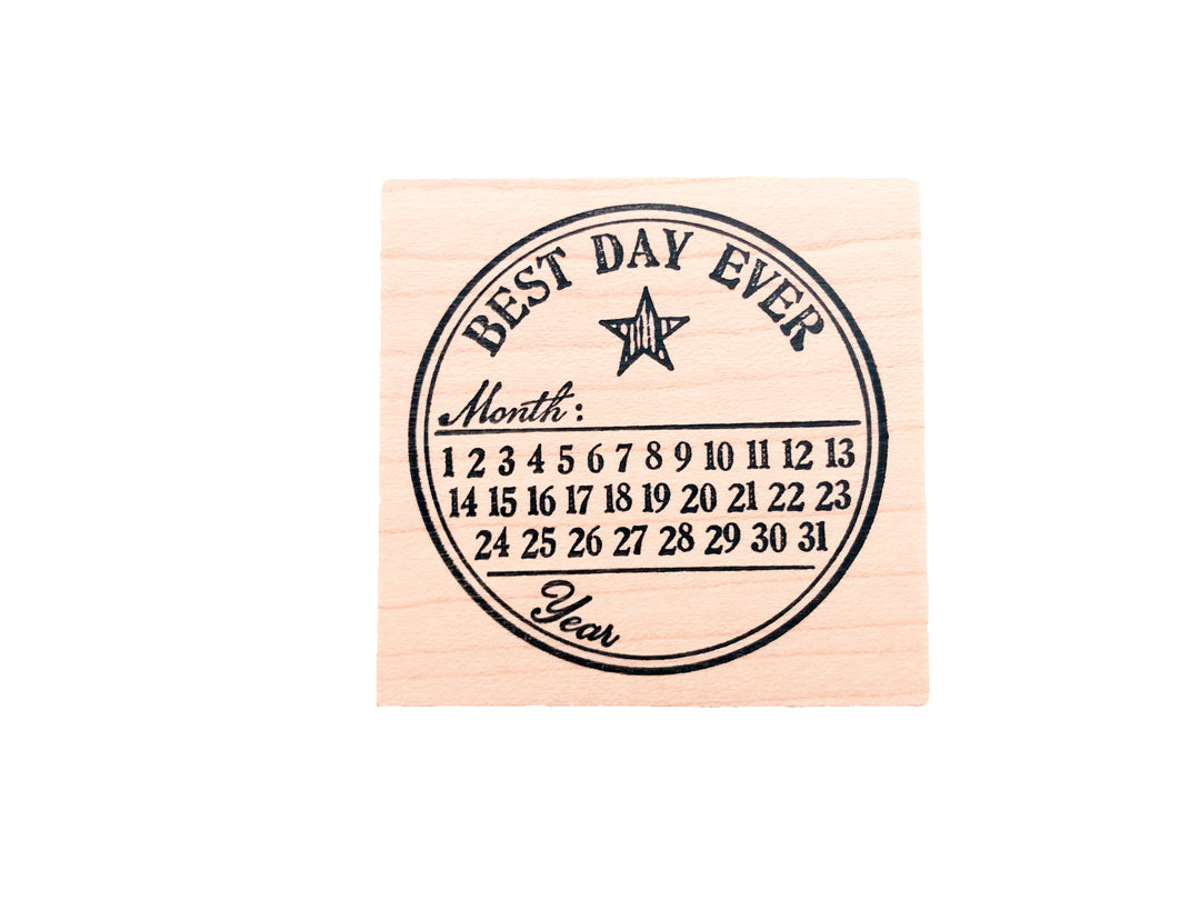 Best Day Ever Rubber Stamp