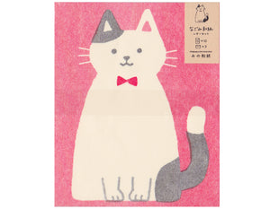 cat with bowtie stationery set