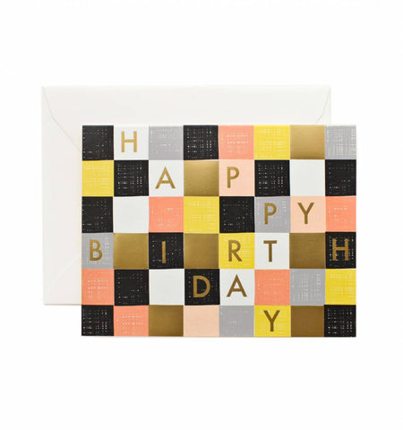 Checkered Happy Birthday Card