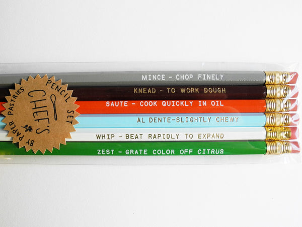 Paper Pastries Chef's Pencil Set