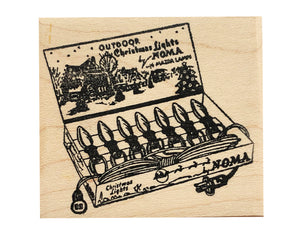 Christmas Lights Rubber Stamp