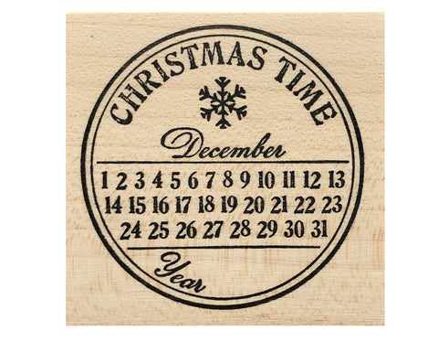 Christmas Time Rubber Stamp