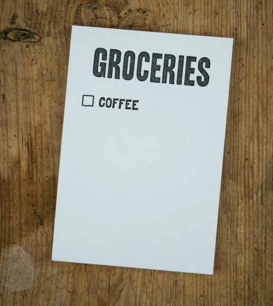 GROCERIES SCRATCH NOTEPAD