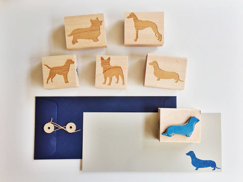 Original Dog Rubber Stamps