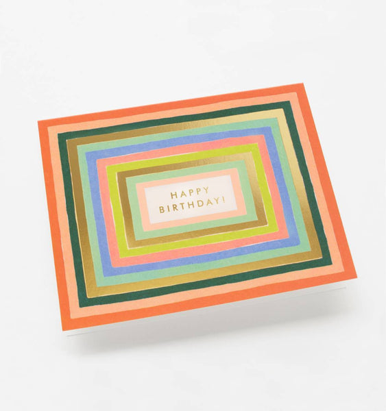Disco Stripes Birthday Card