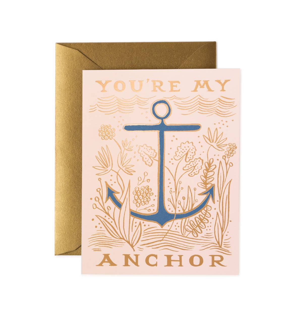 Thanks love you're my anchor gratitude card
