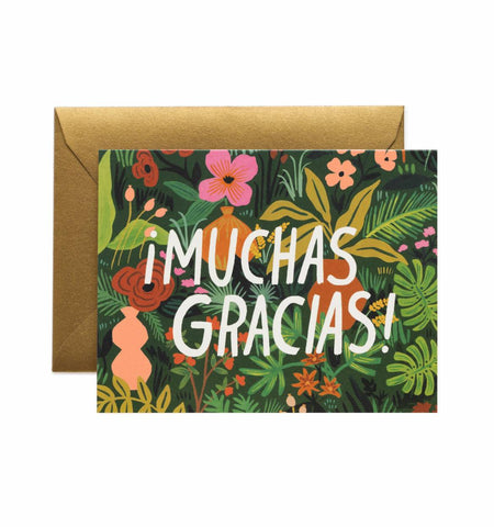 MUCHAS GRACIAS SPANISH THANK YOU Greeting Card