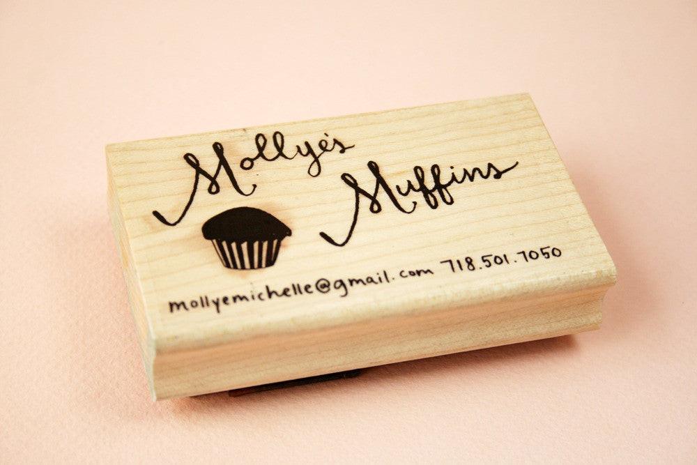 Hand lettered custom business card – Paper Pastries