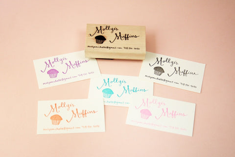 Hand lettered custom business card