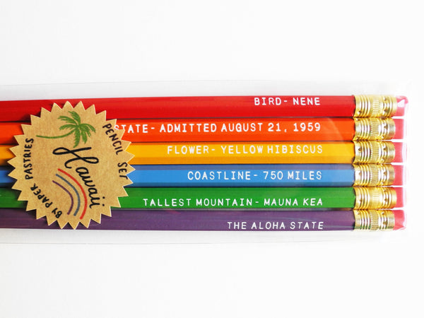 Paper Pastries Hawaii Pencil Set