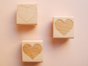 Heart Rubber Stamps