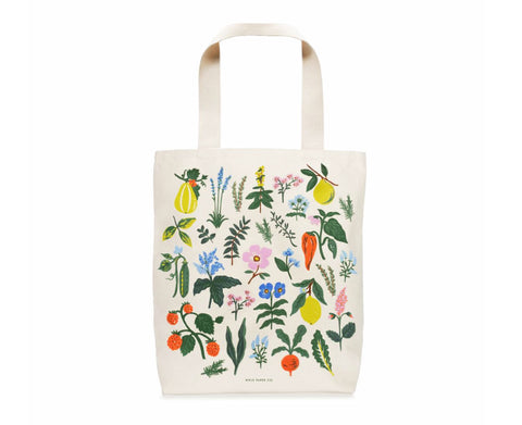 Herb Garden Canvas Tote by Rifle Paper Co