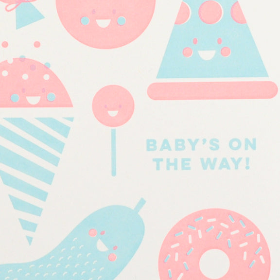 BABY CRAVING PREGNANCY LETTERPRESS CARD