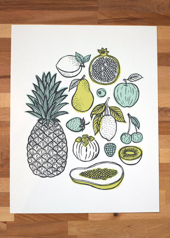 Fruit Illustrations Art Print
