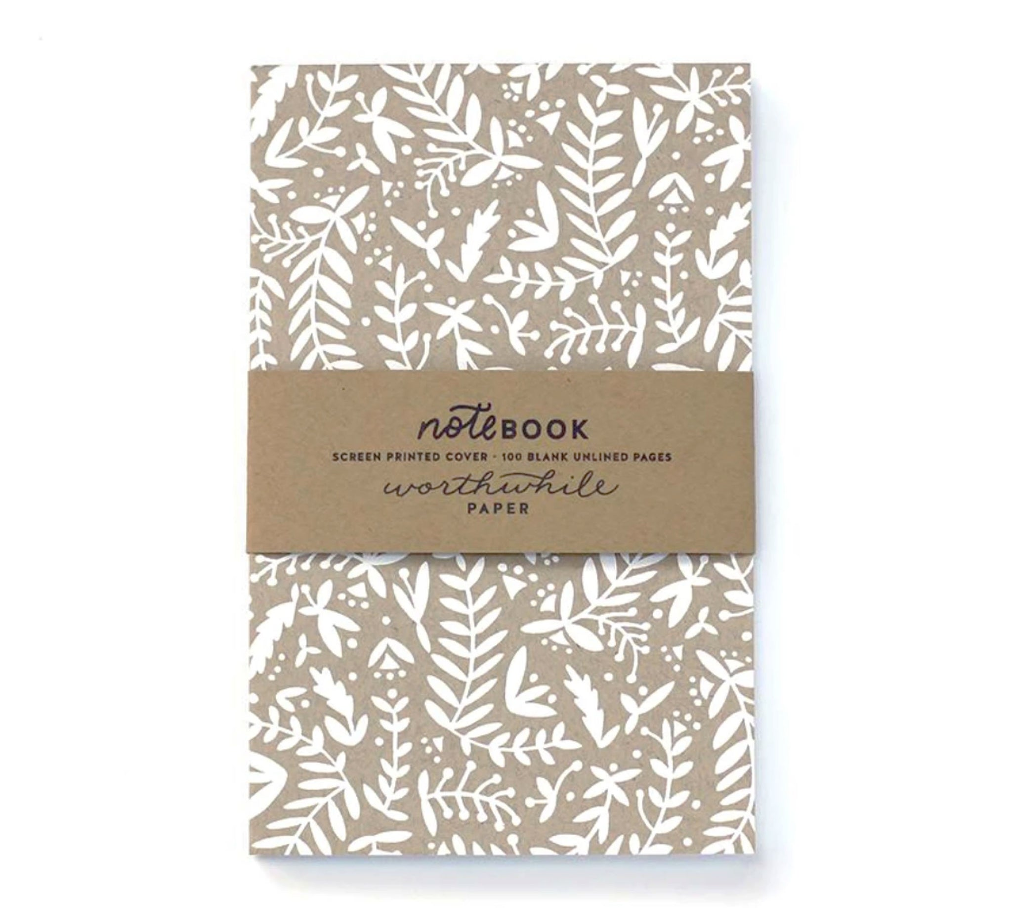 KRAFT NATURE SHAPES NOTEBOOK