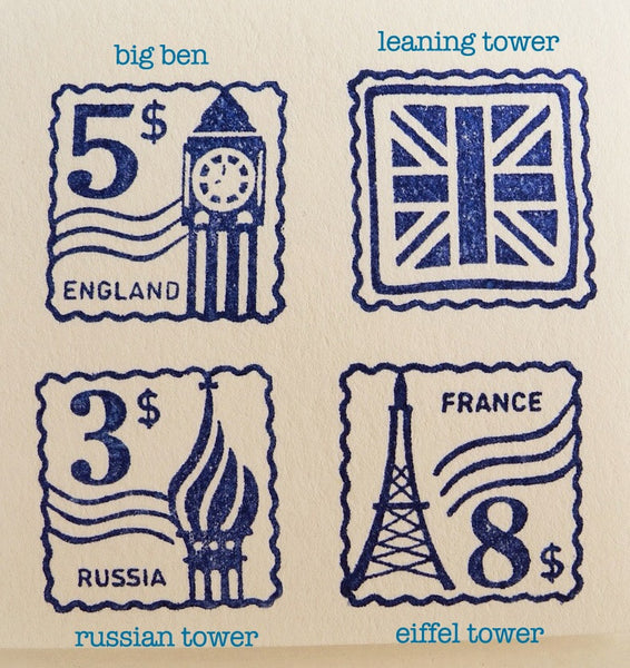 Landmark Travel Stamps- LIMITED QUANTITIES LEFT!