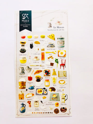 Le Marais Breakfast Stickers