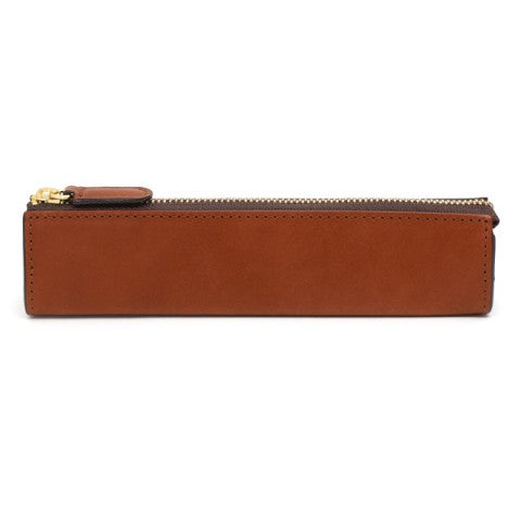 Slim Leather Pen and Pencil Case