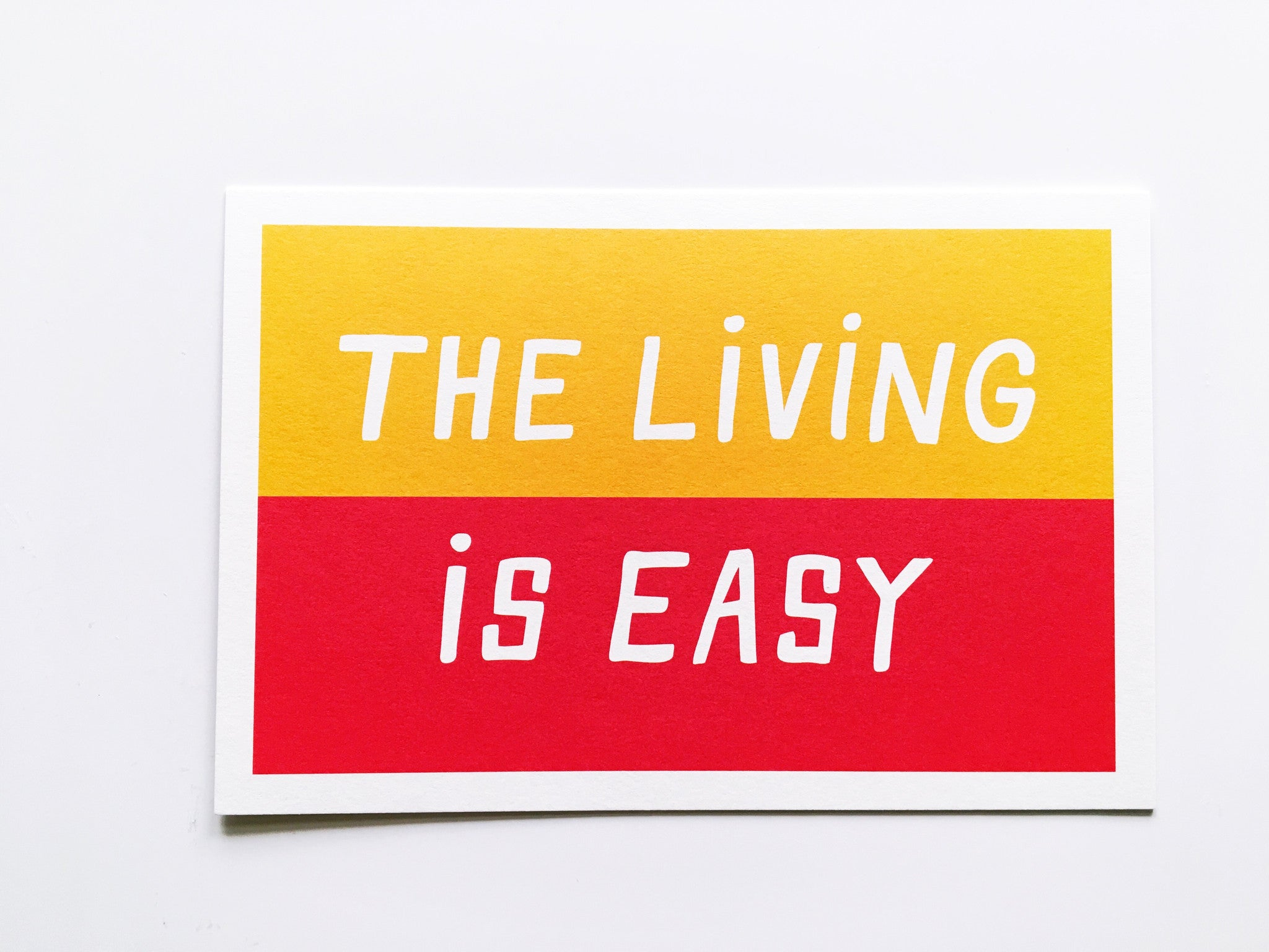 Living Is Easy Split Color Card