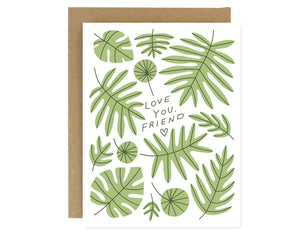 plant illustrations text reads love you friend