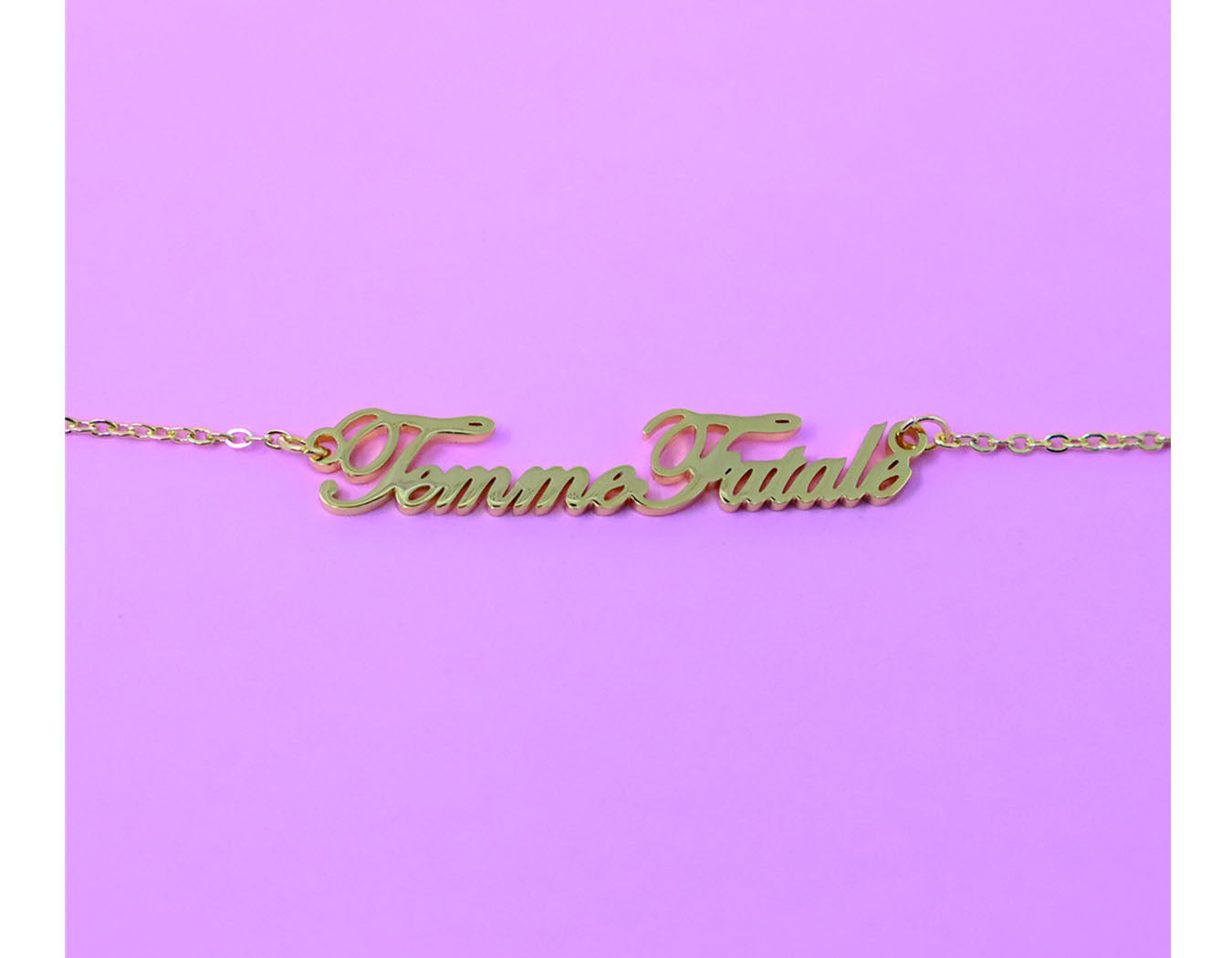 Femme Fatale necklace - Nameplate necklace - Girl power