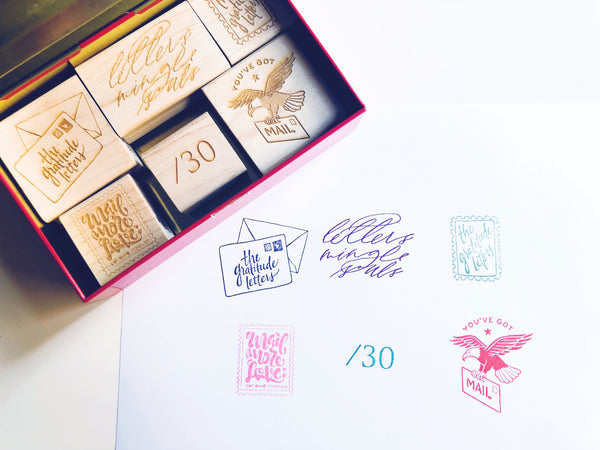 Mail More Love Rubber Stamps