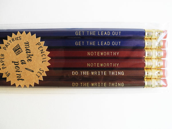 Paper Pastries Make A Point Pencil Set