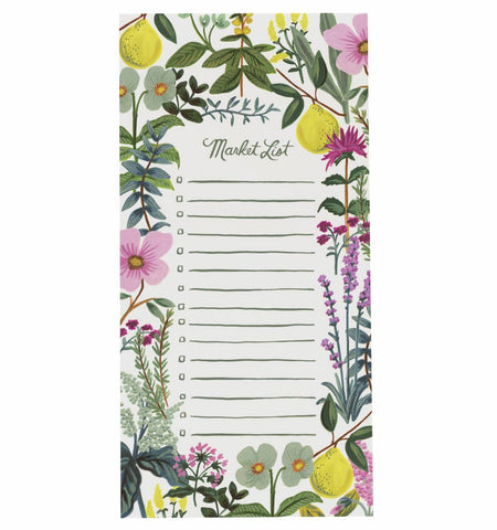 Herb Garden Kitchen Market List Notepad