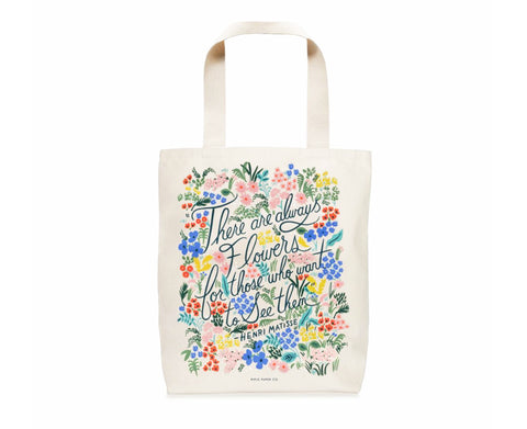 Seeing Flowers Tote Bag by Rifle Paper Co