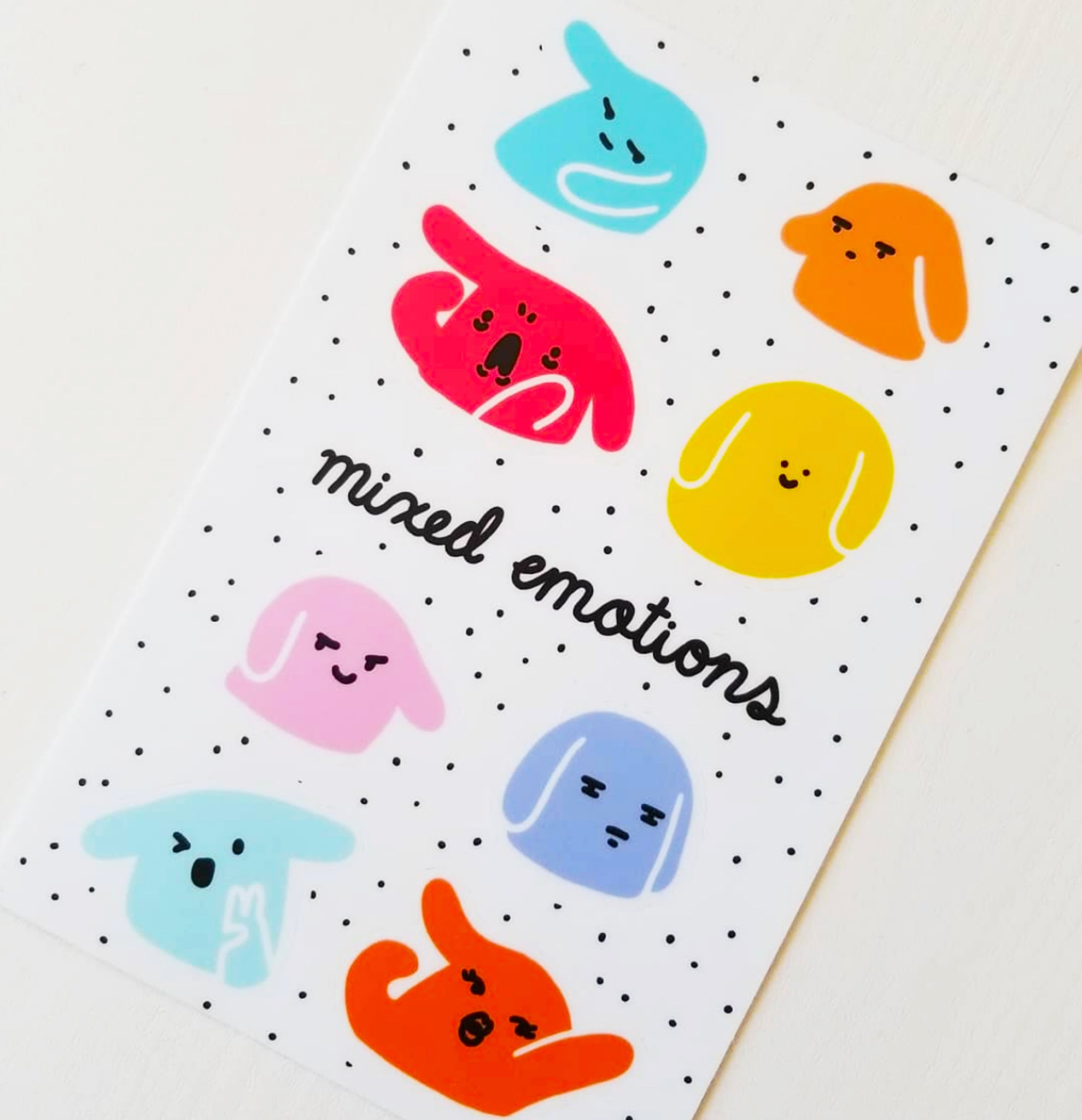 Mixed Emotions Sticker Sheet by Allison and Cam