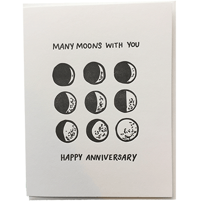 Many Moons Anniversary Card
