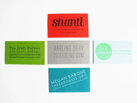 Custom Business Card Stamp Paper Pastries