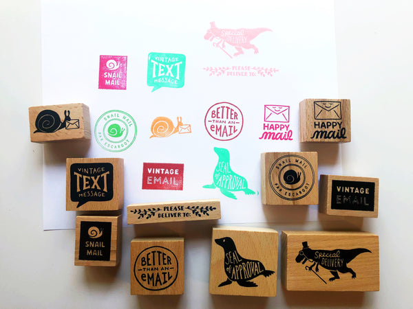 SNAIL MAIL Rubber Stamps by Wit & Whistle