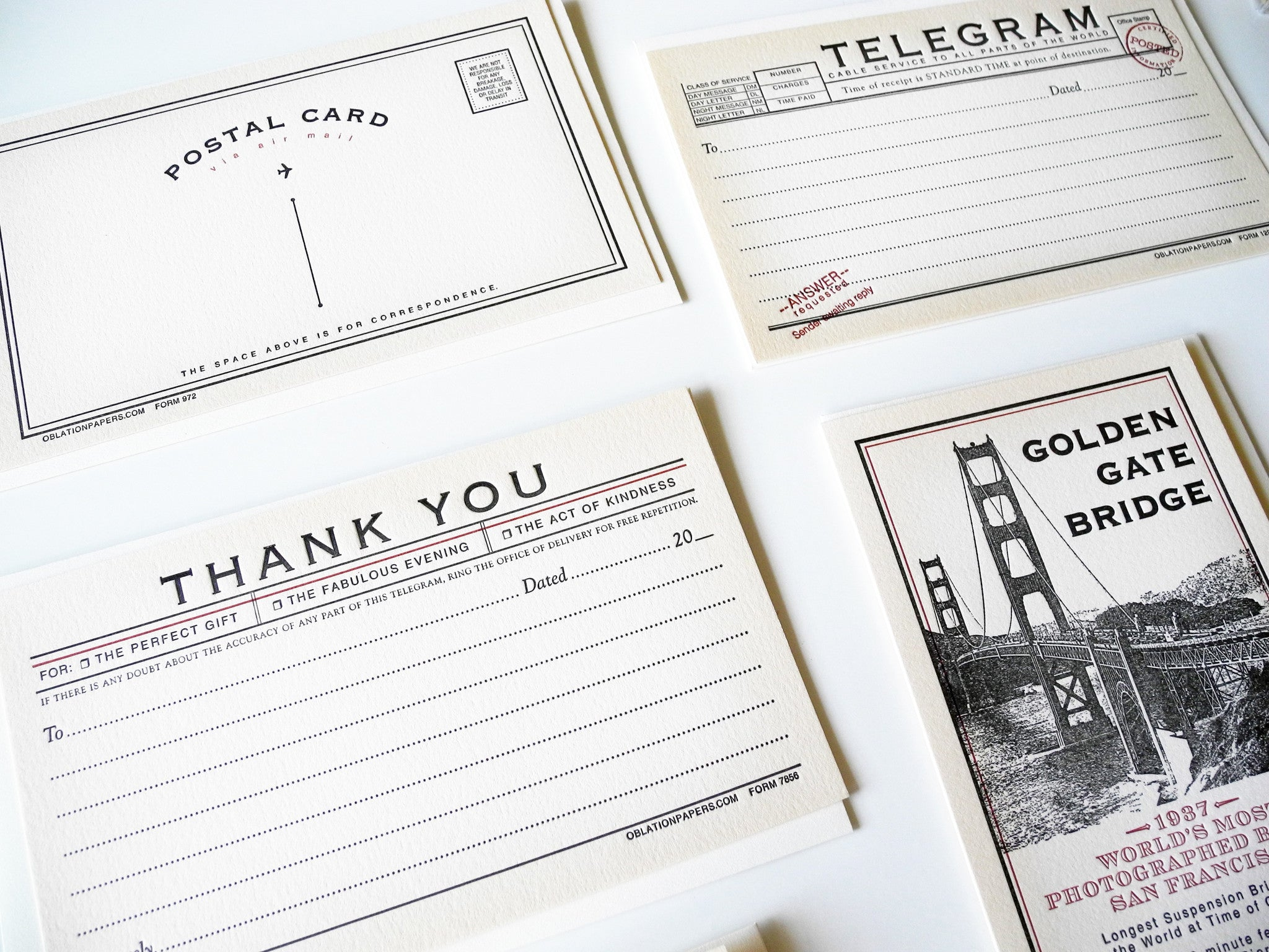 Letterpress Cards by Oblation Paper