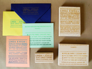 DIY Ace Invitation Custom Rubber Stamps