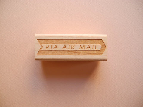Via Air Mail Rubber Stamp