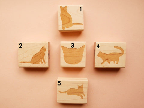 Original Cat Rubber Stamps