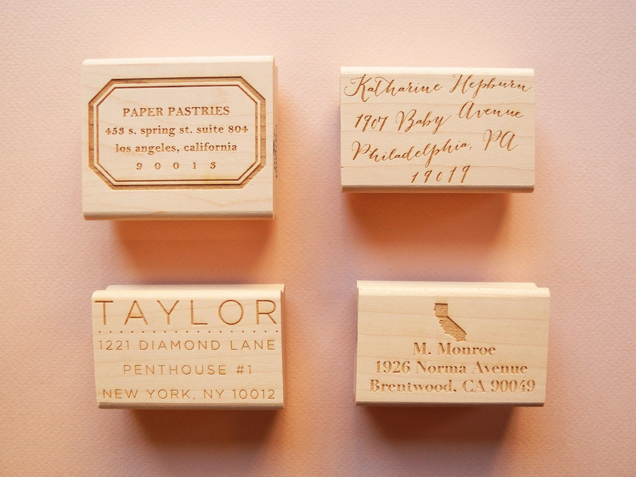 Custom Font Return Address Stamp