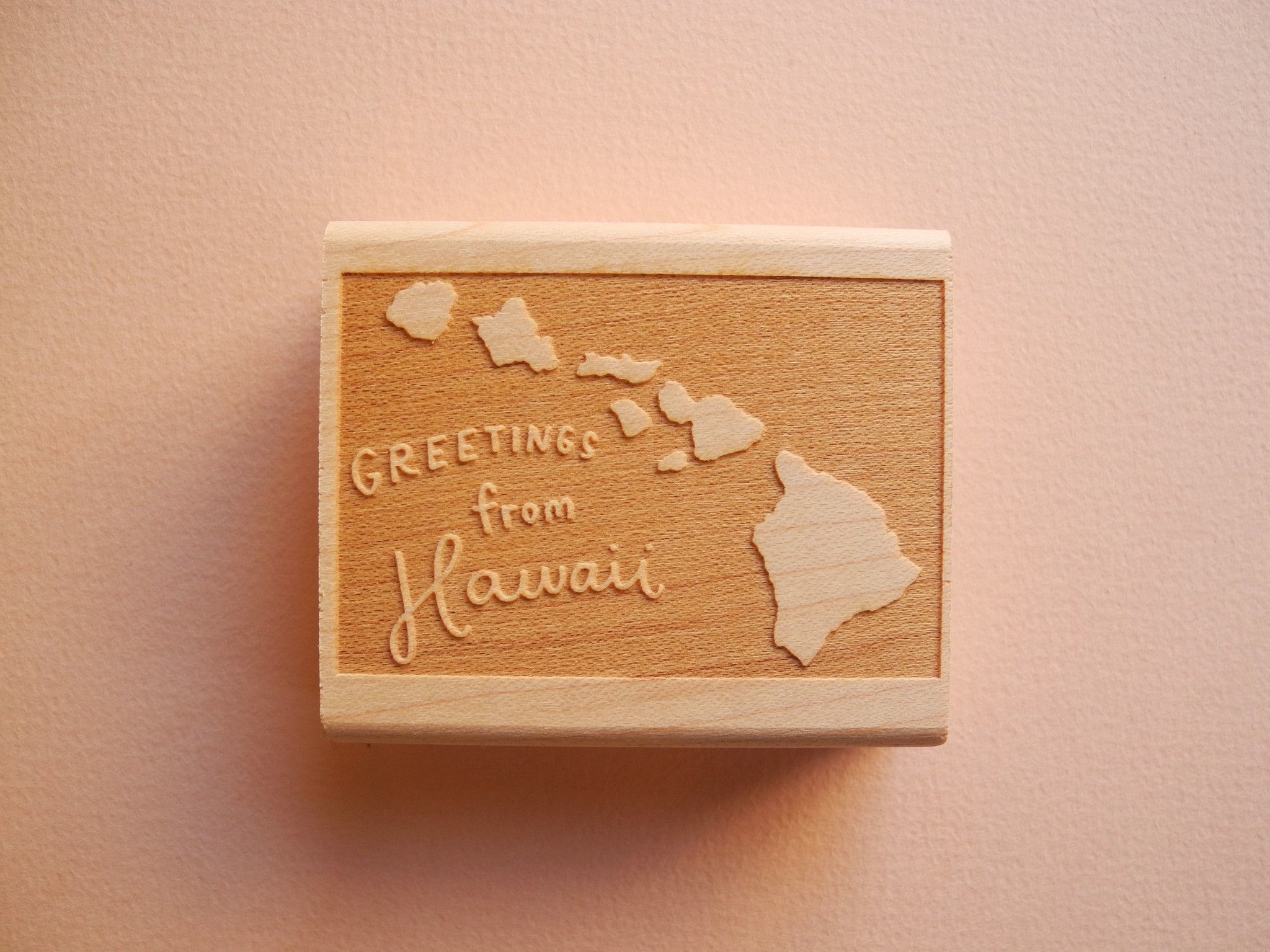 Greetings from Hawaii Rubber Stamp