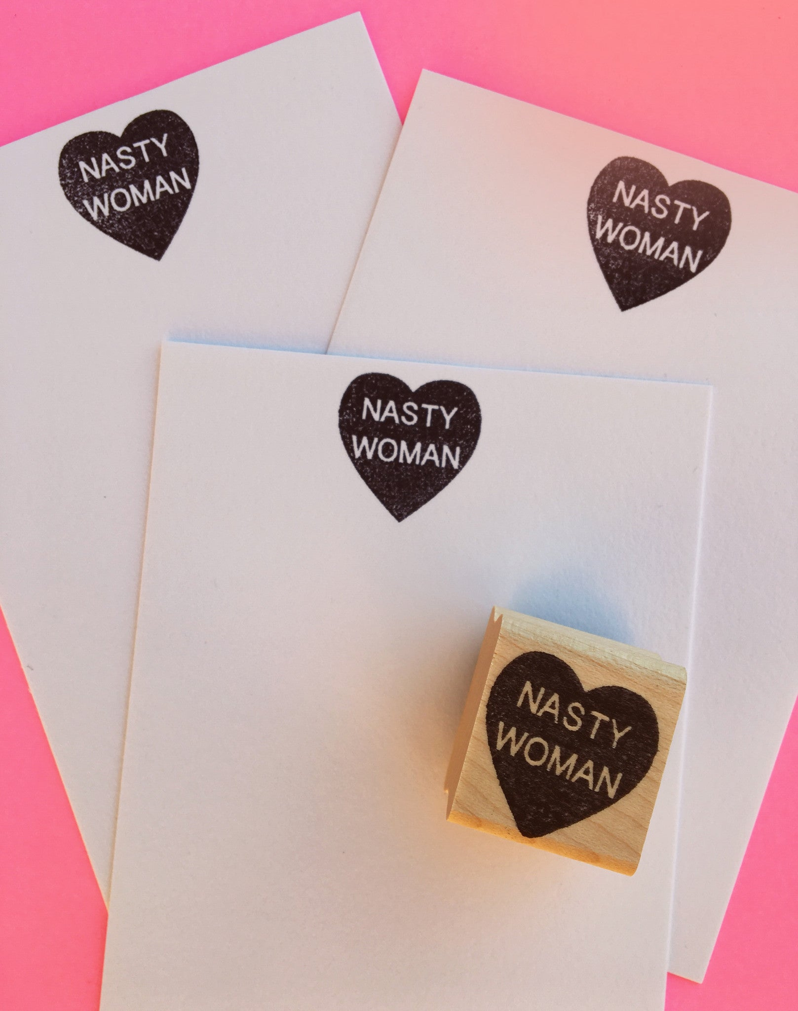 NASTY WOMAN Heart Stamp