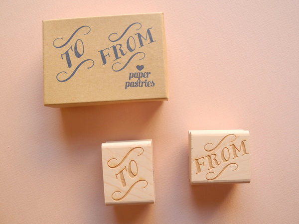 To and From Rubber Stamp Set