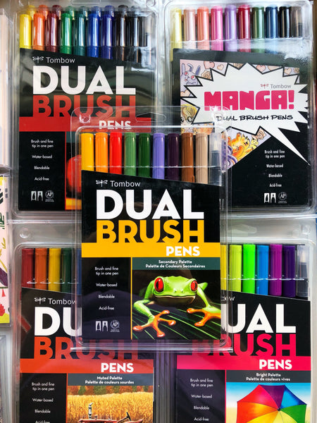 Tombow ABT Dual Brush pens are wonderful for illustrating, drawing, scrapbooking, and rubber stamping. It's no wonder that they are so popular among artists and crafters alike!