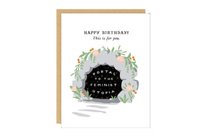 Feminist Utopia Birthday Card