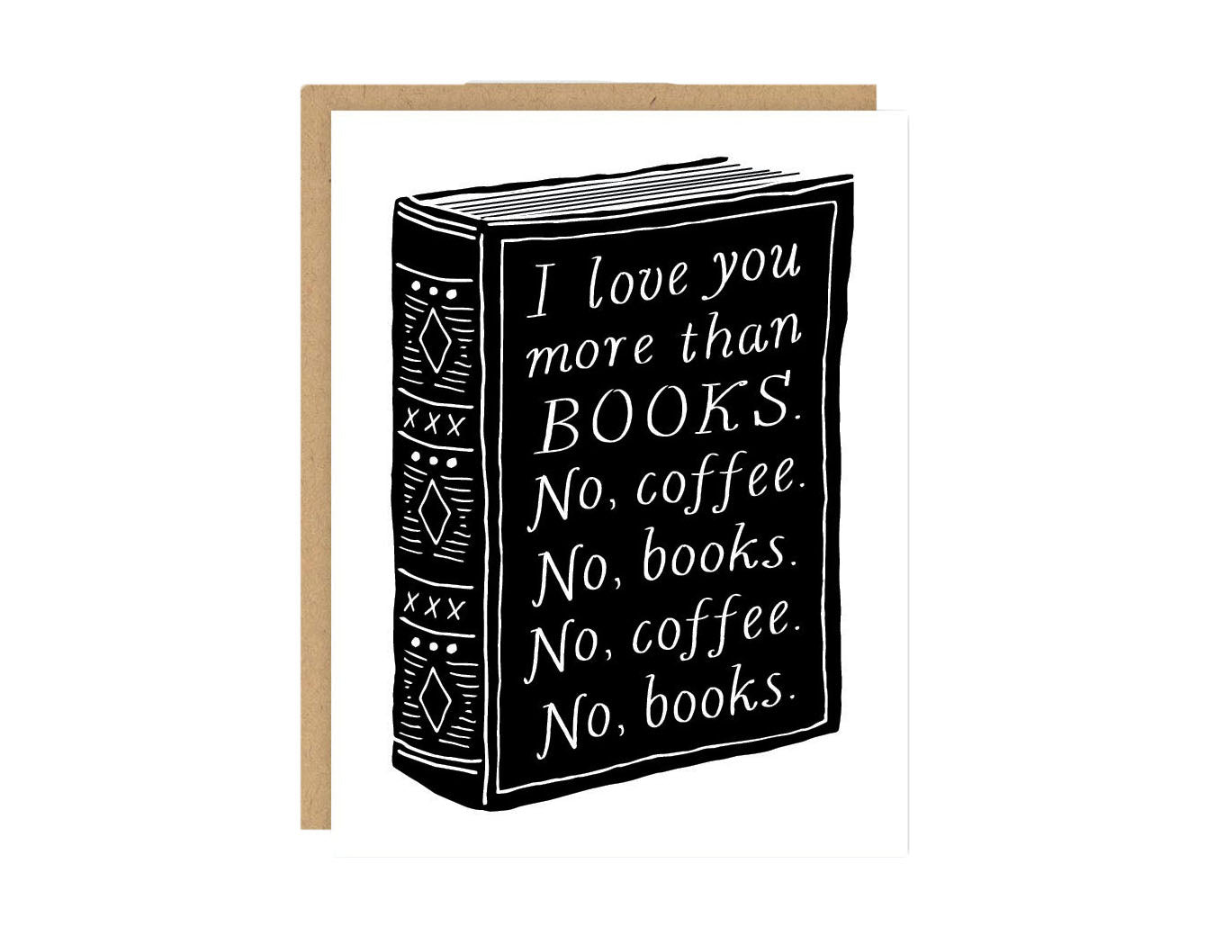 Books and Coffee Love Card